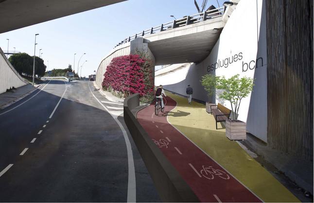 Esplugues saca a concurso las obras del carril bici que conectará con la Diagonal