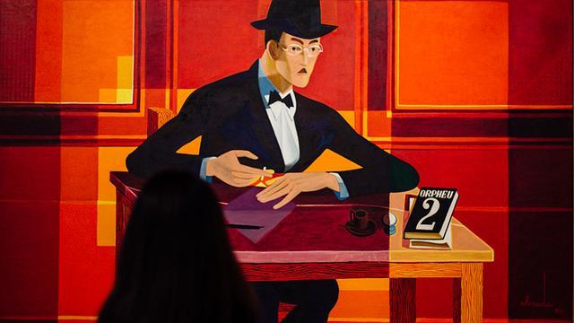 Retrato de Fernando Pessoa, por Almada Negreiros (Crédito: Divulgação)