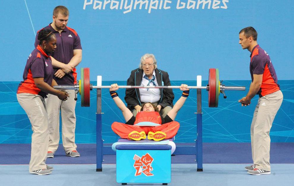 Loida Zabala en los Juegos Paralímpicos de Londres 2012