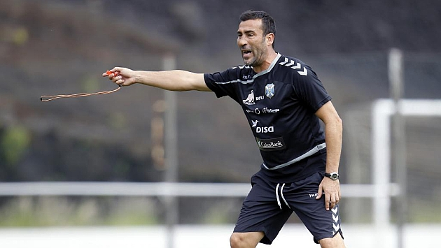 Agné, en su pasada etapa como entrenador del Tenerife