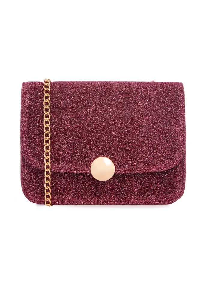 Bolso mini burdeos