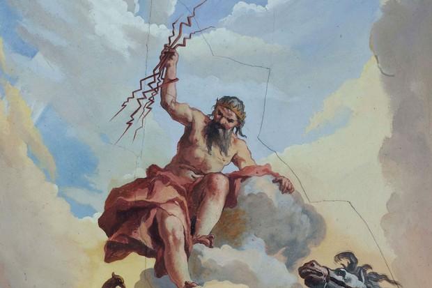 Diferentes mitologías han asociado los rayos con divinidades. En la imagen, Zeus, dios de los rayos en Grecia.