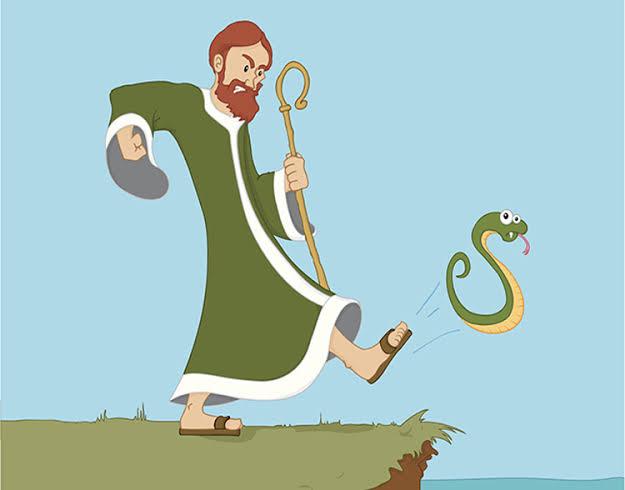 San Patricio, el santo, exterminador de oficio.