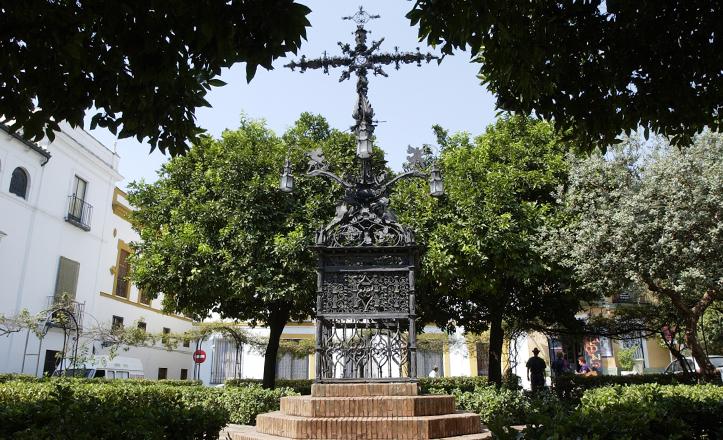 Resultado de imagen de plaza santa cruz sevilla