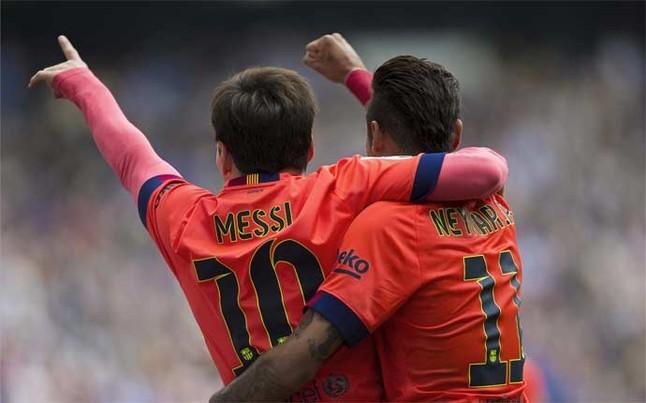 Messi, con su gol, encarriló la victoria del Barcelona en el derbi