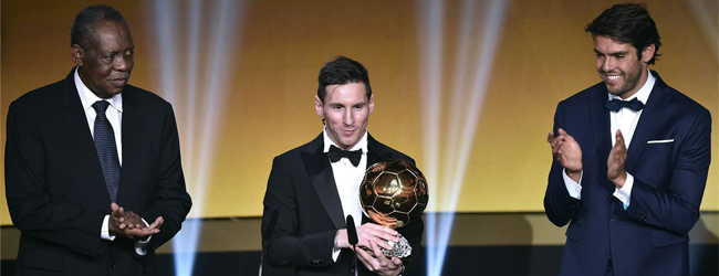 ¡Messi gana su quinto Balón de Oro!