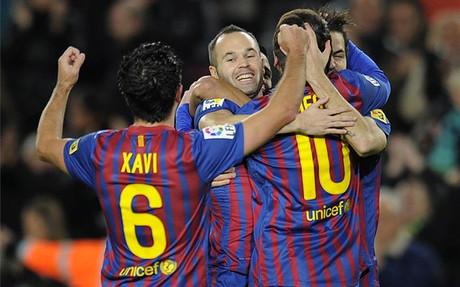 Leo Messi, Cesc Fàbregas, Xavi Hernández y Andrés Iniesta estan en el Top 32 de la UEFA