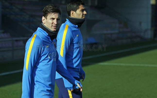 Messi joins workouts to prepare for the match against Betis