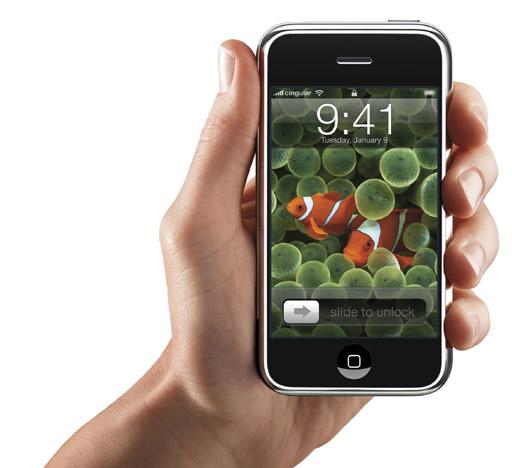 El iPhone es algo más grande que un teléfono convencional (11,5 cent�metro de alto y 6,1 de ancho), pero sensiblemente más delgado (1,6 cent�metros de profundidad). (Foto: REUTERS)