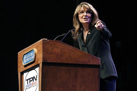 Palin, durante su intervención. | Reuters