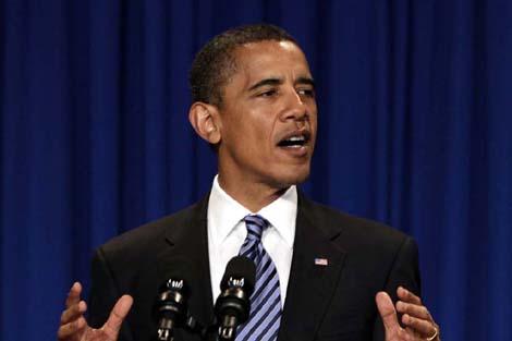 Barack Obama durante una conferencia en Ohio. | Ap