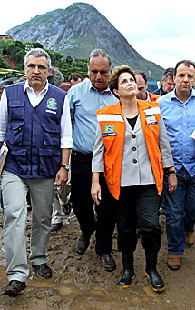 Dilma, en Nova Friburgo. | R. Stuckert
