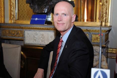 El gobernador de Florida, Rick Scott, en una reciente visita a España.