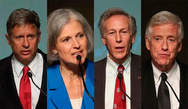 Johnson, Stein, Goode y Anderson, candidatos a la presidencia de EEUU