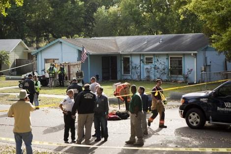 Imagen exterior de la casa donde ocurrió el suceso. | Afp