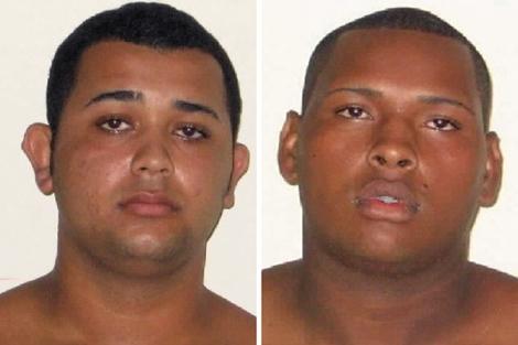 Los dos detenidos, Jonathan Froudakis de Souza (izq) y Wallace Aparecido Silva. | Afp