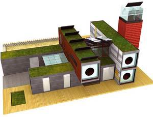 Recreación de la casa R4house expuesta en Construmat (Foto: EL MUNDO)