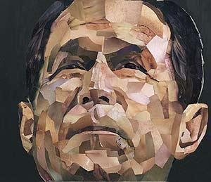 Retrato de Bush, por Jonathan Yeo. (Foto: EFE)