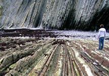 El 'flysch' (formaciones de rocas duras y blandas) de Zumaia, Guipúzcoa. | IGME