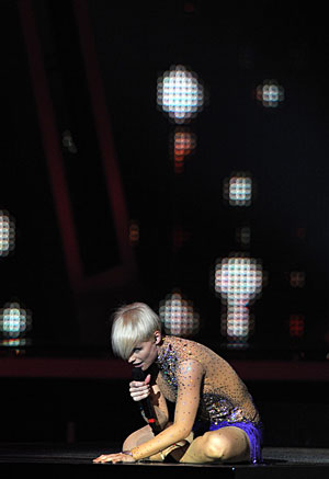 Soraya, en un momento de su actuación. | AFP