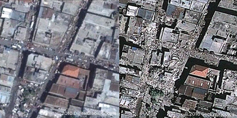 Puerto Príncipe, destrozado.  www.readwriteweb.com