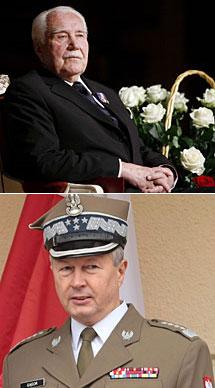 El ex presidente Kaczorowski (arriba) y el general Gagor. Efe