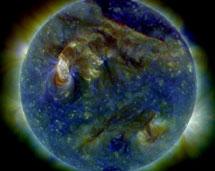 Recreación de la NASA del 'tsunami' solar.