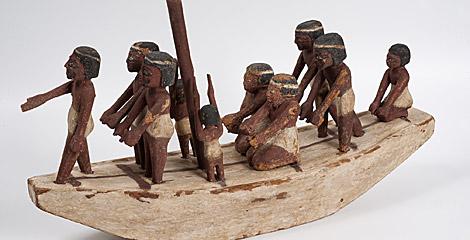 Modelo de embarcación, Egipto, 2050 - 1750 a. C.