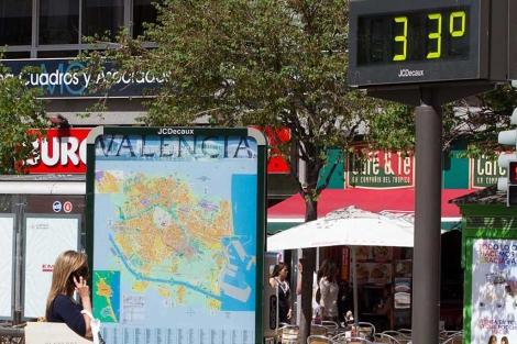 Valencia registró ya ayer altas temperaturas.   Benito Pajares