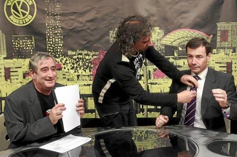 Tomás Gómez, durante una entrevista en Tele K. | E. M.