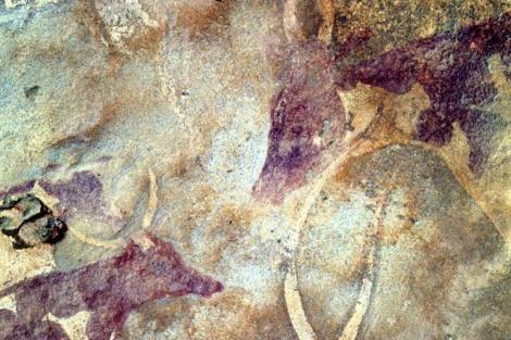 Pinturas del ganado de hace más de 5.000 años halladas en Libia. | R.C.