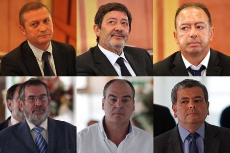 De i. a d. y de arriba a abajo: Díaz, Guerrero, Rivera, Rivas, Márquez y Barberá. | J.M. | D.L.
