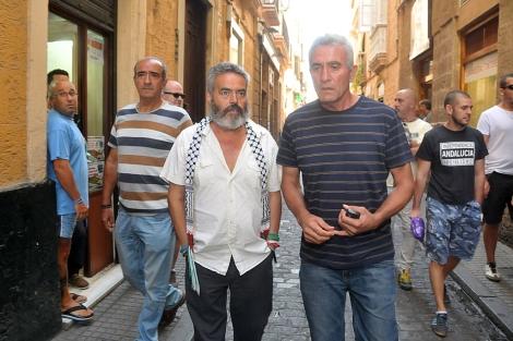 Gordillo y Cañamero, en la calles de Cádiz. | Cata Zambrano