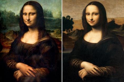La 'Mona Lisa' del Louvre (i) y el lienzo presentado este jueves (d), AFP / Mona Lisa Foundation