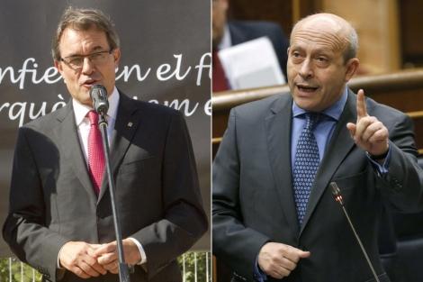 Los protagonistas de la semana, Artur Mas y José Ignacio Wert. | Efe