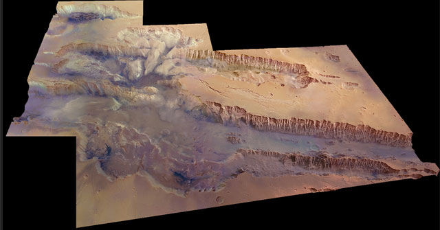 El 'Gran Cañón' marciano.   ESA