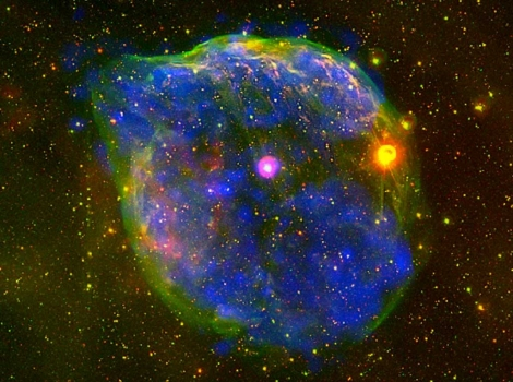 La burbuja gigante producida por el viento de una estrella masiva. | ESA