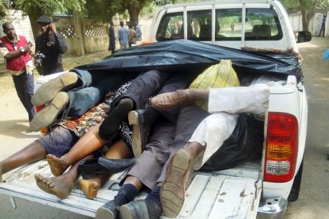 Víctimas de una matanza de la secta Boko Haram. | Afp