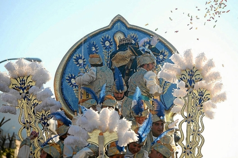 Cabalgata de Reyes el pasado enero en Sevilla. | J. Morón
