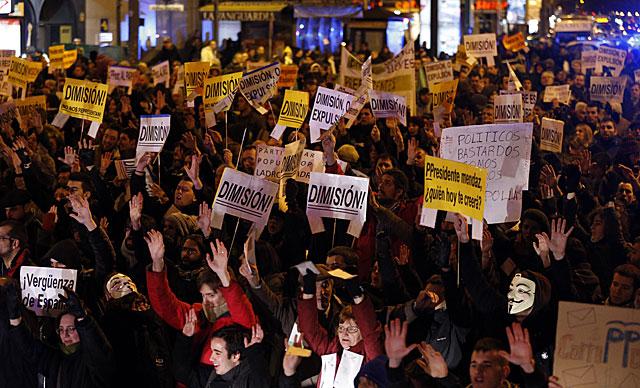 Protesta en la plaza de Alonso Martínez en Madrid. | Foto: Afp