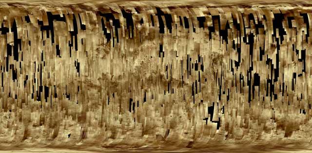 Mosaico de 2.700 imágenes de la superficie marciana captadas por la sonda Mars Express. | ESA
