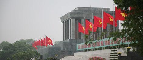 Mausoleo de Ho Chi Minh en Hanoi, Vietnam.