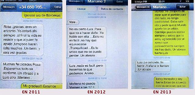 Los SMS de Rajoy y Bárcenas.