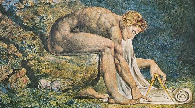 Isaac Newton, retratado por William Blake. | El Mundo
