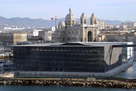 Vista panorámica del nuevo Museo de las Civilizaciones de Europa y el Mediterraneo.