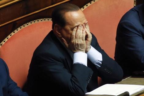 Berlusconi, durante una sesión del Senado. | Foto: Reuters