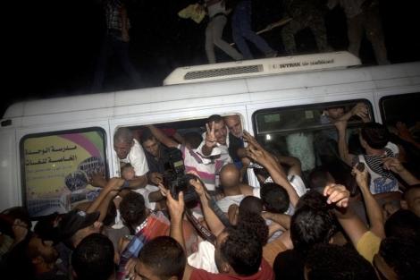 Llegada de los presos a Erez. | Afp