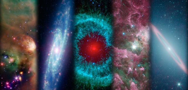 Montaje de los diferentes hallazgos del 'Spitzer'. | NASA