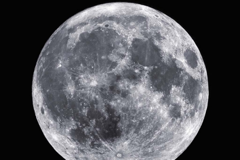 Imagen de la luna.   NASA