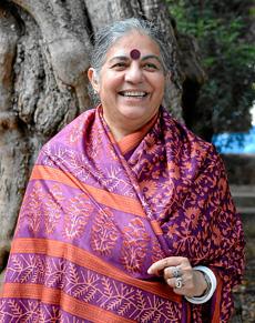 Vandana Shiva. Foto feta per Manolo Vilchez.
